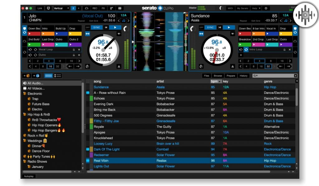Serato DJ Pro main interface