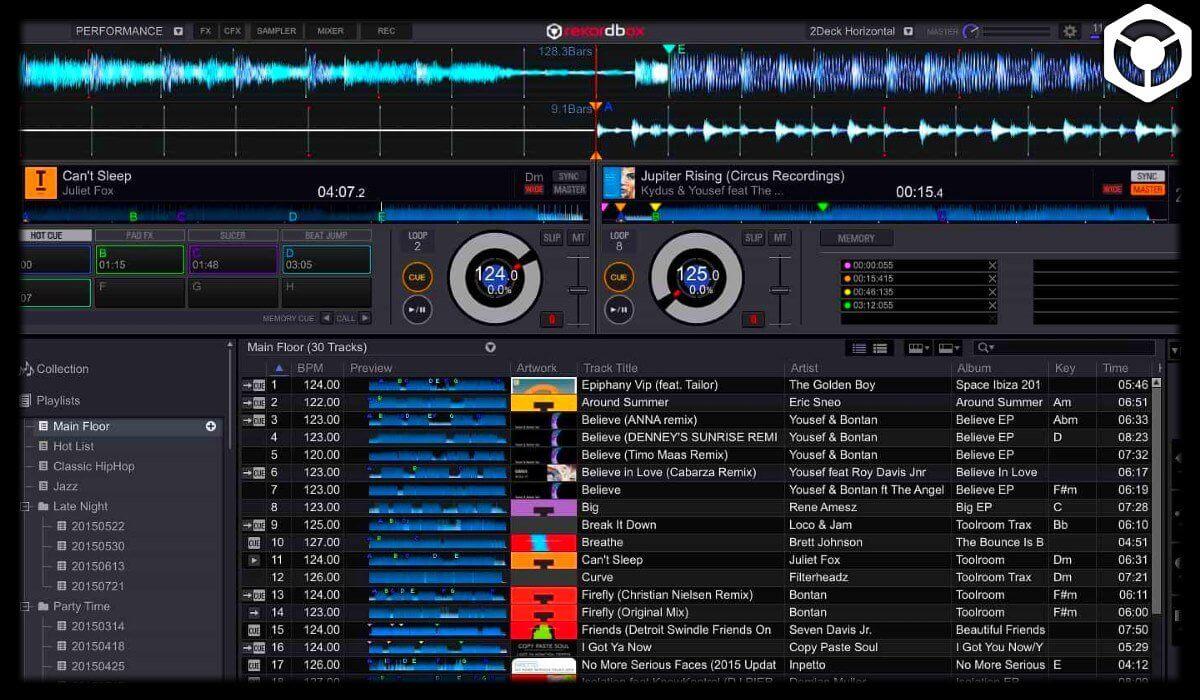 Rekordbox DJ overall interface overview
