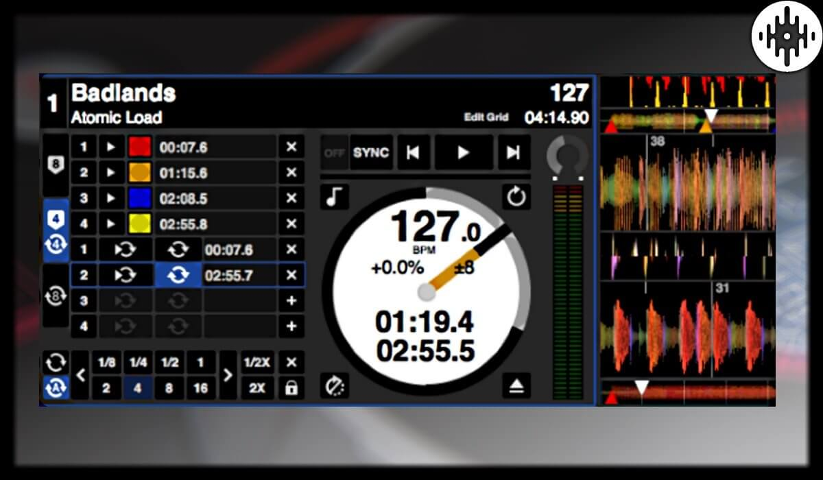 Serato DJ deck detail
