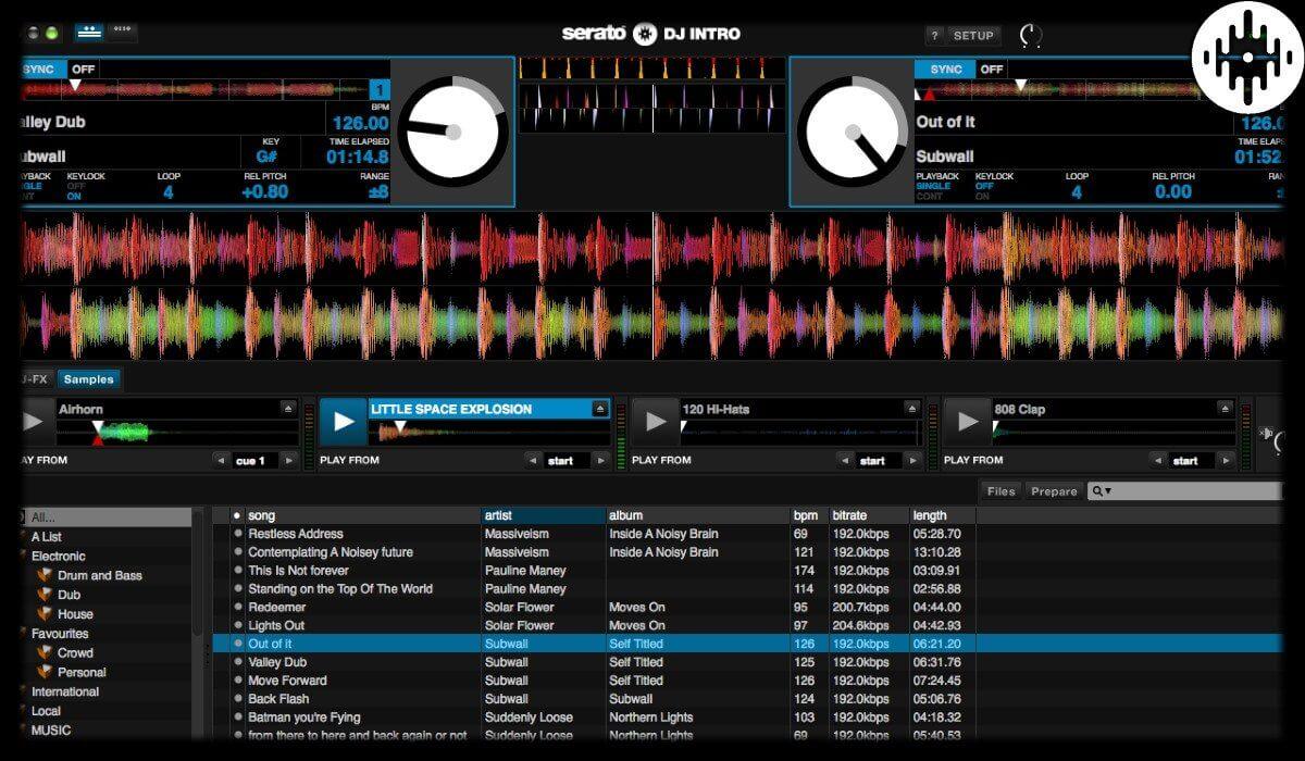 Serato DJ Intro interface overview