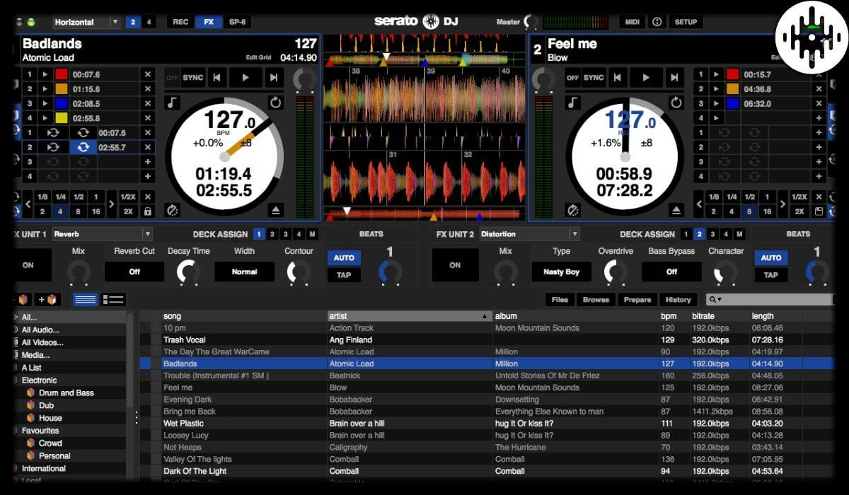 Serato DJ interface overview