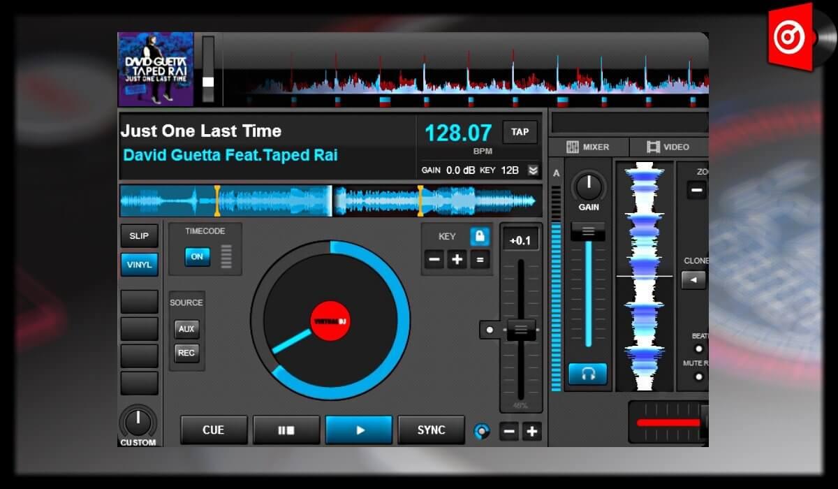 Virtual DJ 8 deck detail