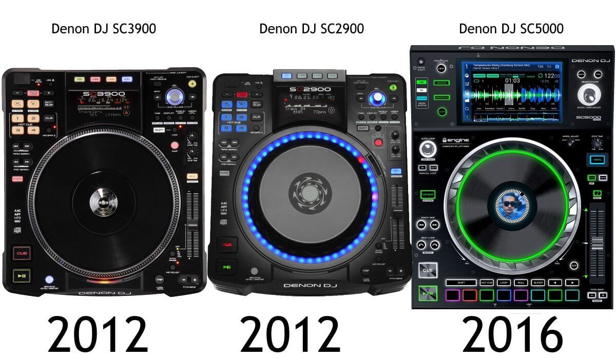 Evolution of the Denon DJ SC line