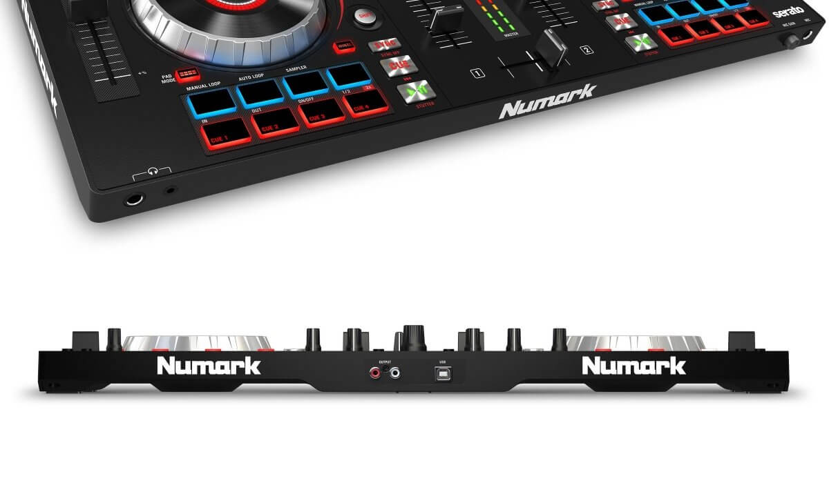 Numark Mixtrack Platinum front and back
