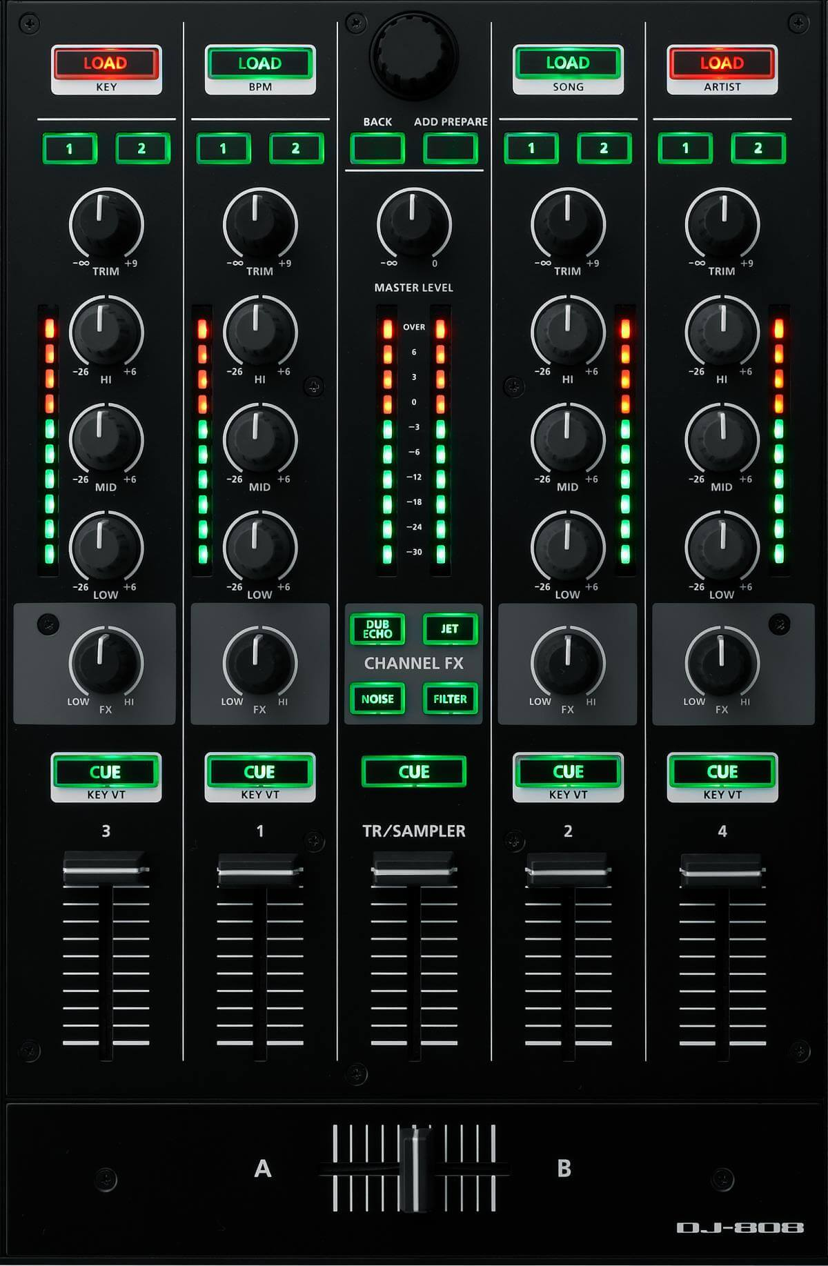 Roland DJ-808 mixer section
