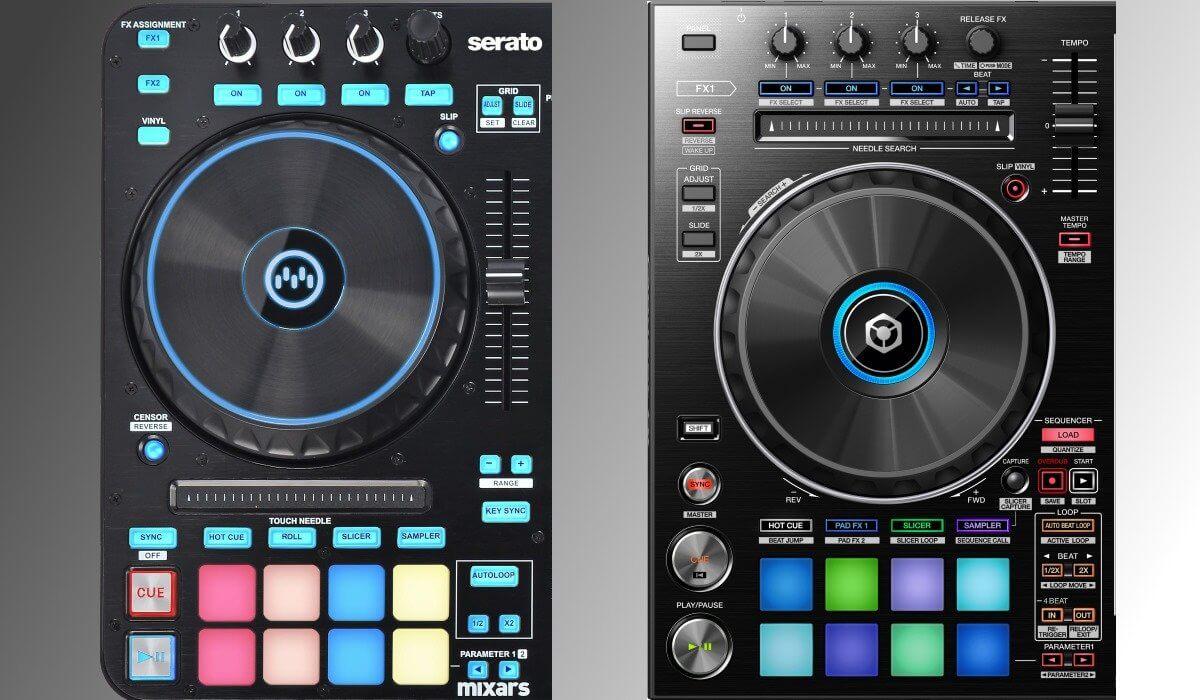 Mixars Primo VS Pioneer DJ DDJ-RR: the decks