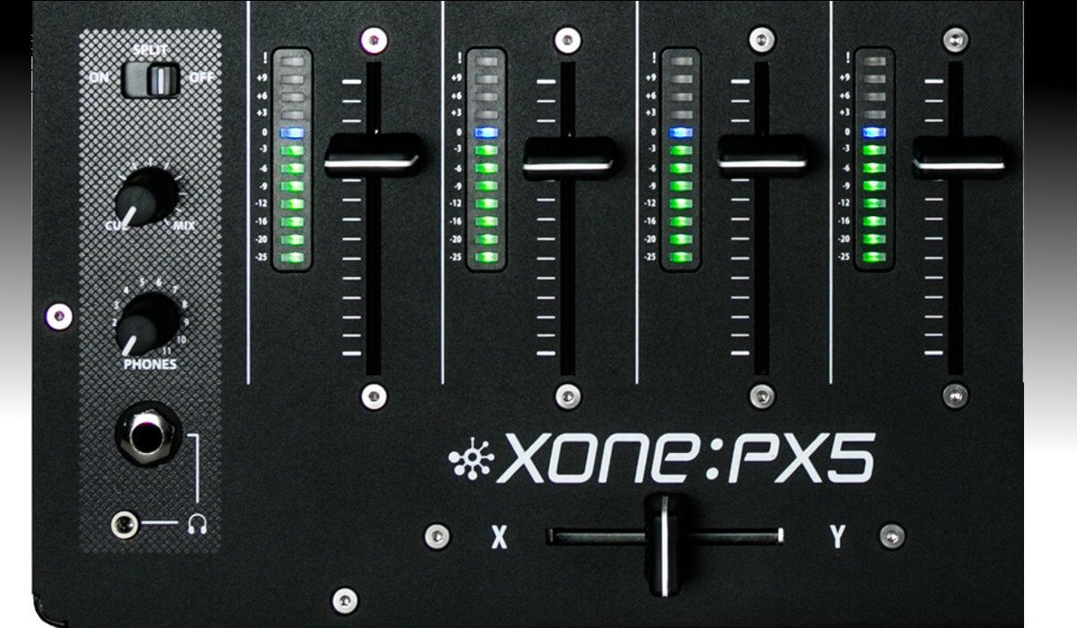 Allen & Heath Xone:PX5 faders & VU meters