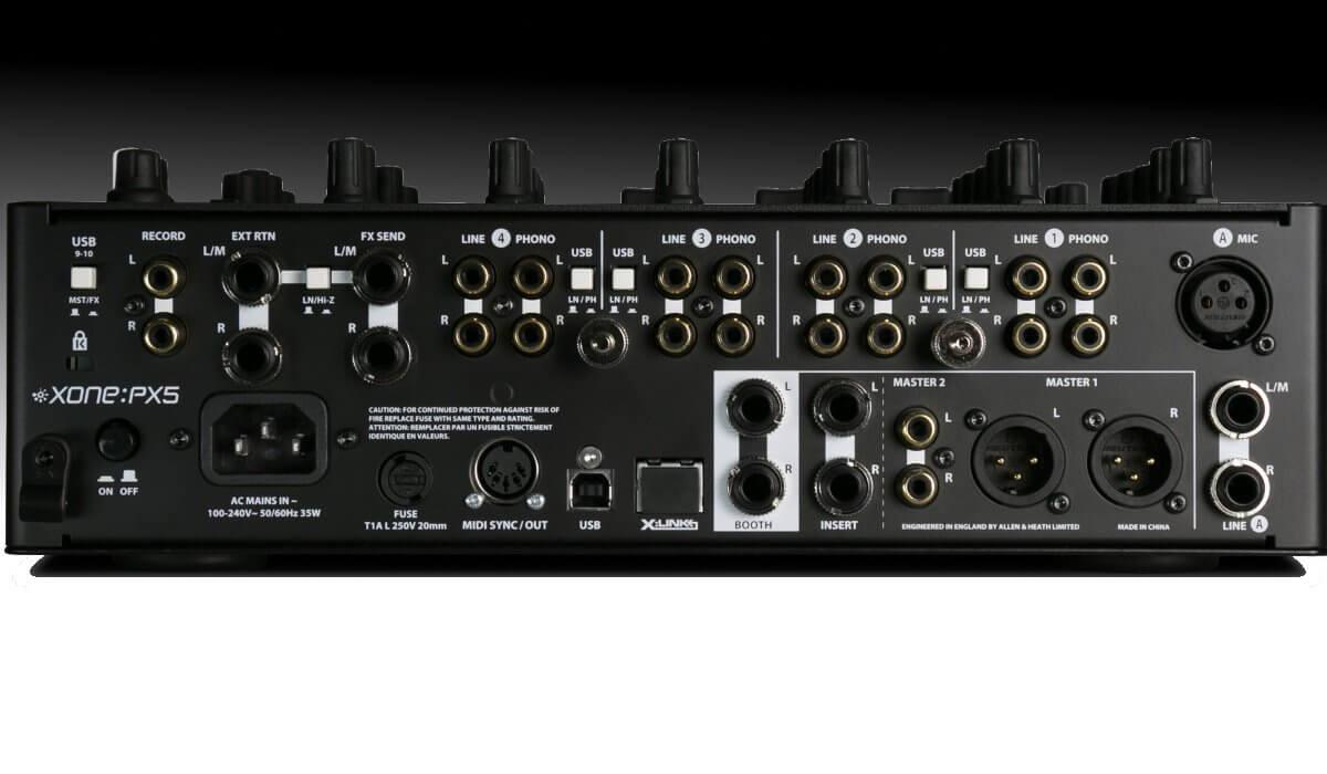 Allen & Heath Xone:PX5 inputs & outputs