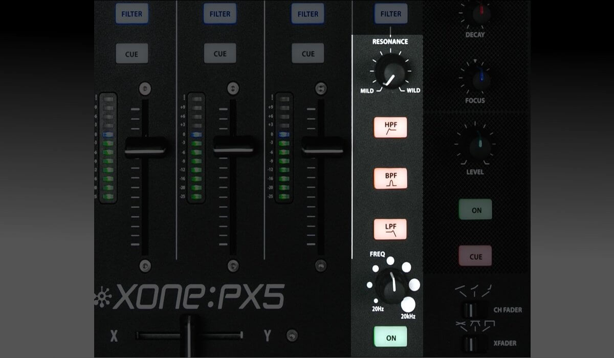 Allen & Heath Xone:PX5 VCO filter
