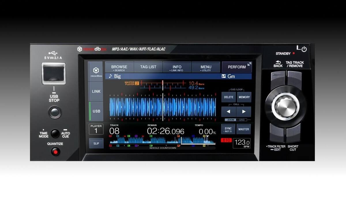 Pioneer DJ XDJ-1000mk2 screen