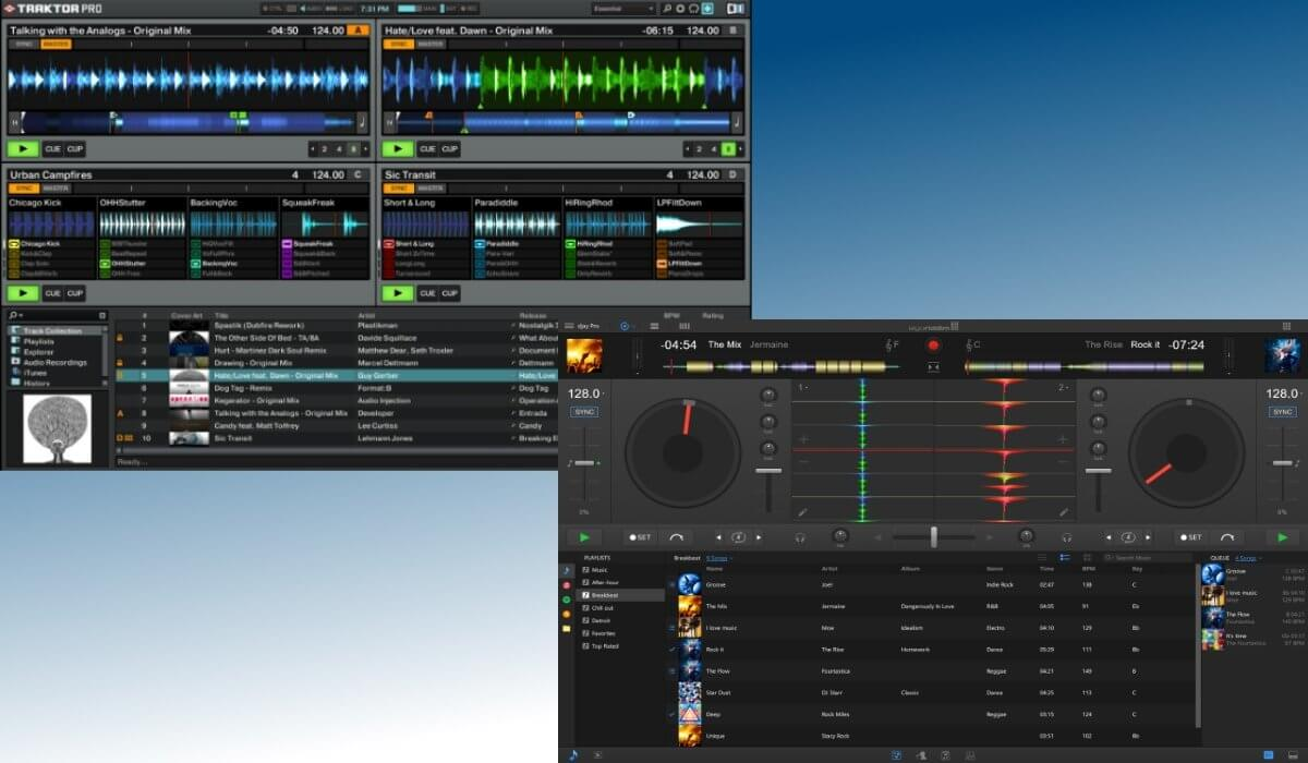 Traktor Pro versus djay Pro: the interface compared