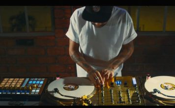 DJ Craze performing his New Slave routine
