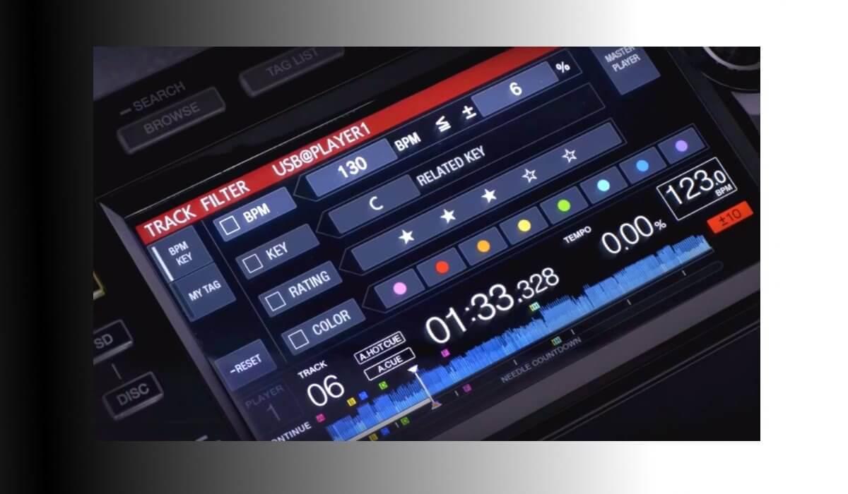 CDJ-2000NXS2 filtering options