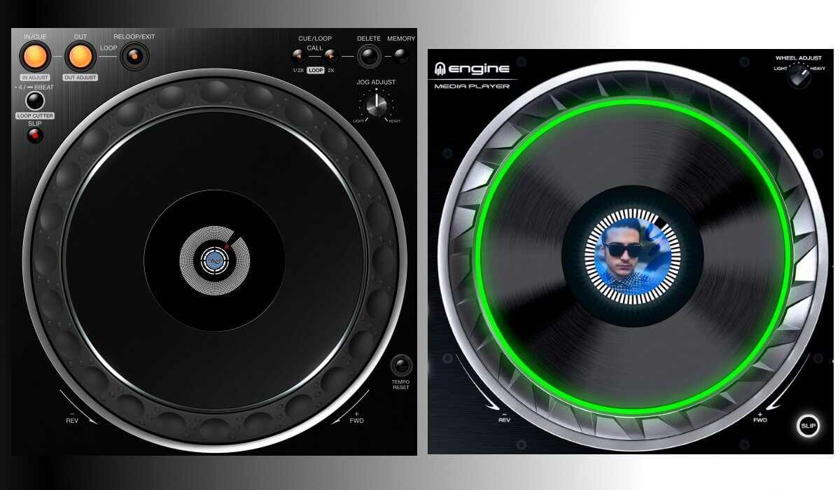 CDJ-2000NXS2 and SC5000 Prme jog wheels compared