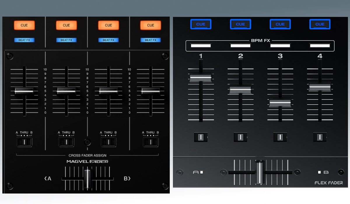 Faders & crossfaders compared
