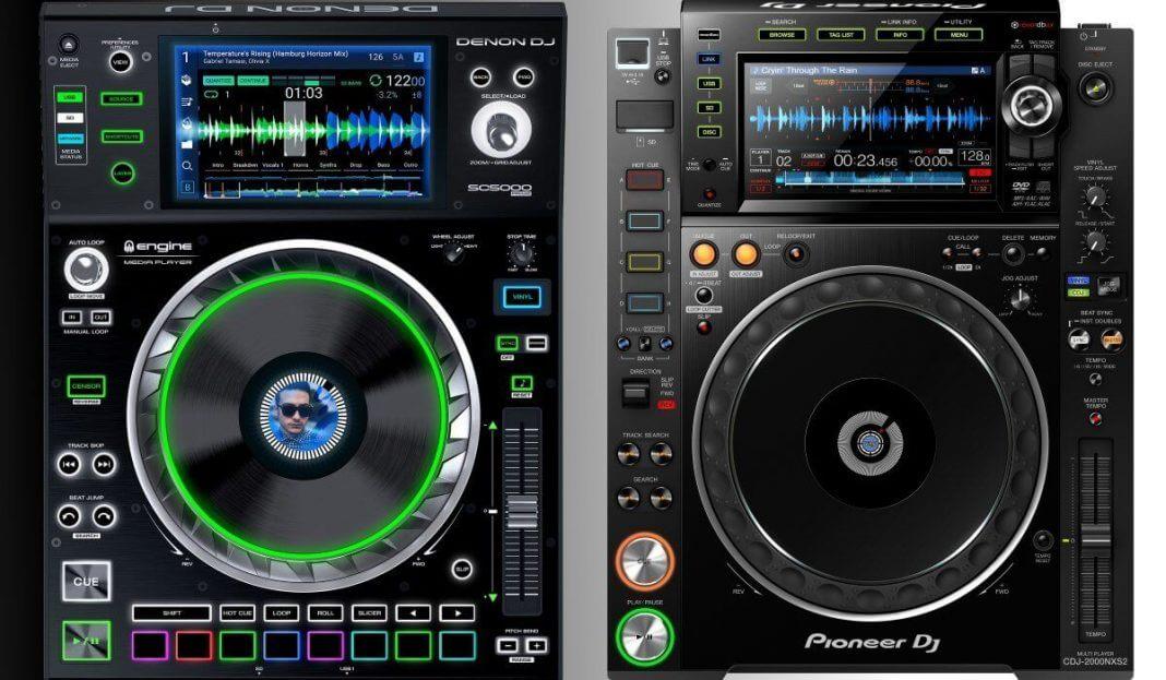 The Denon DJ SC5000 Prime compared to the Pioneer DJ CDJ-2000NXS2