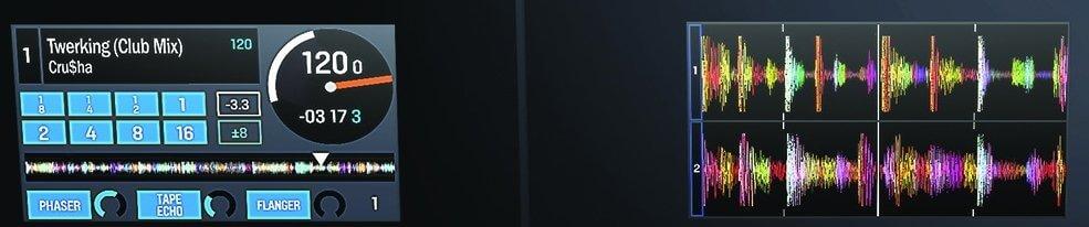 NS7III screens detail