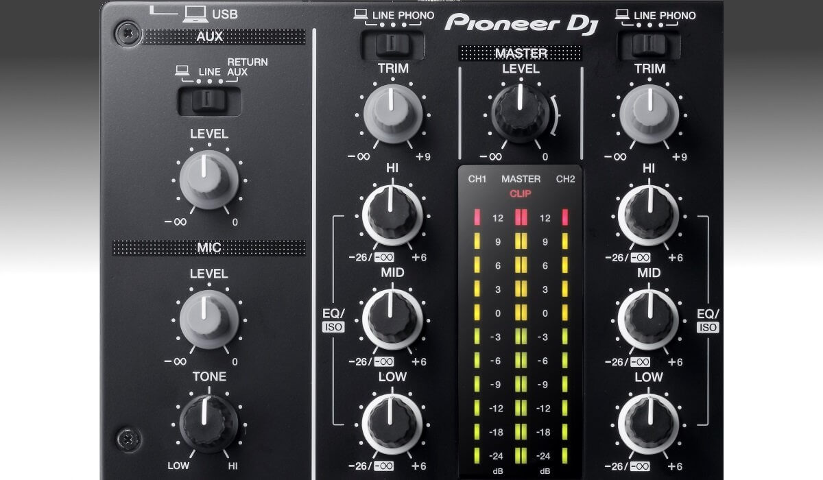 Pioneer DJ DJM-450 channel options