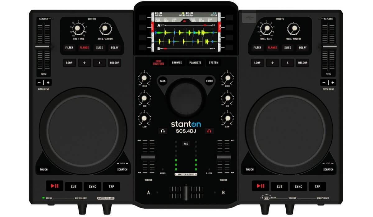 The Stanton SCS.4DJ with built-in screens