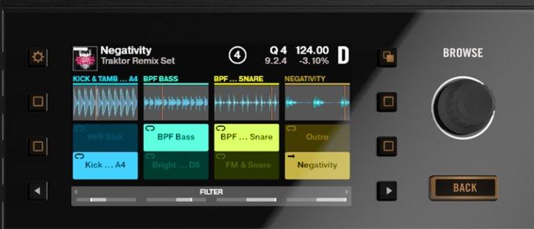 Kontrol S8 screen detail