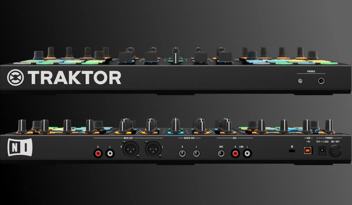 Native Instruments Traktor Kontrol S5 back and front