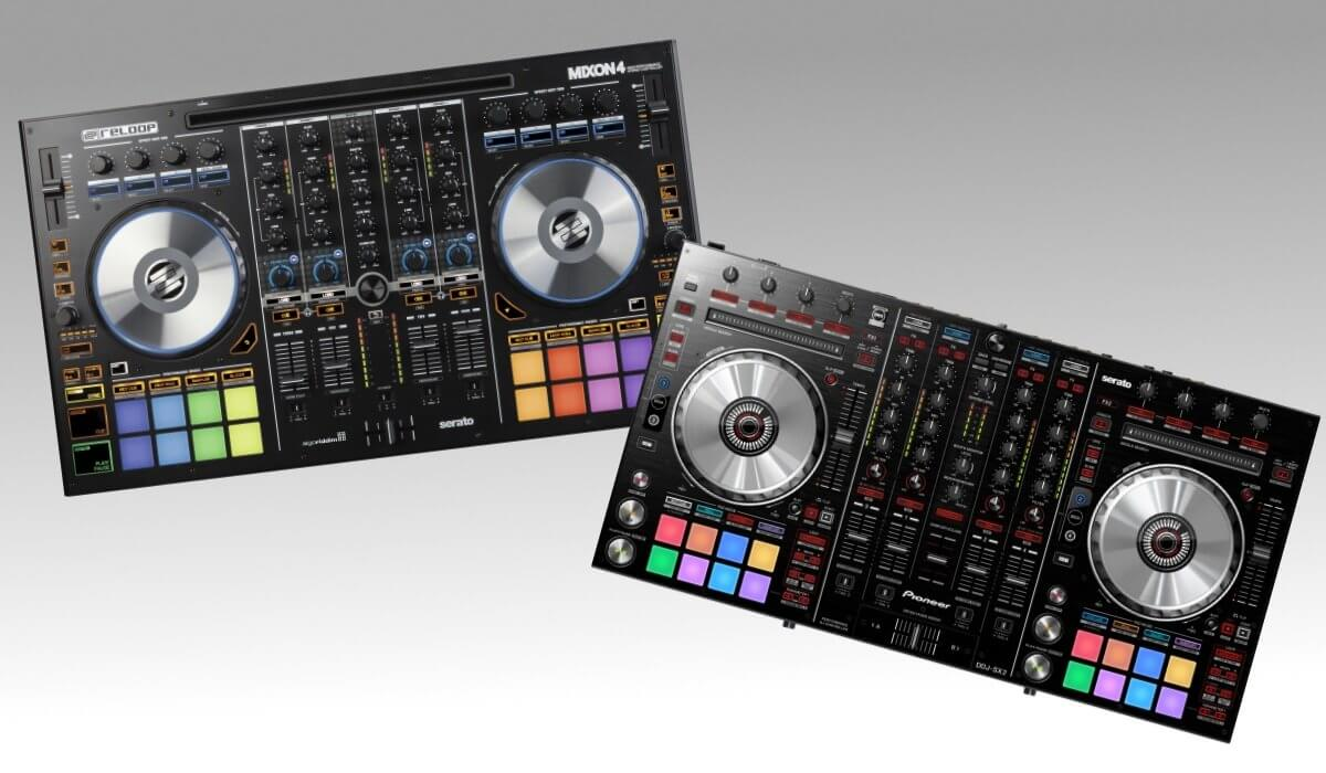 The Pioneer DJ DDJ-SX2 and the Reloop Mixon 4 face off.