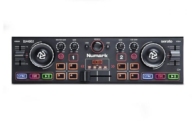 Numark DJ2GO2 top view.
