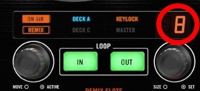 Native Instruments Traktor Kontrol S4 loop encoder.