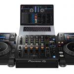 Pioneer DJ DJM-750MK2 using Rekordbox DJ.