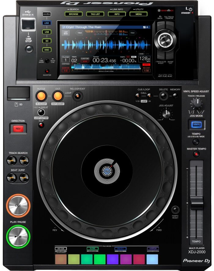 Pioneer XDJ-2000, with enhanced screen access buttons
