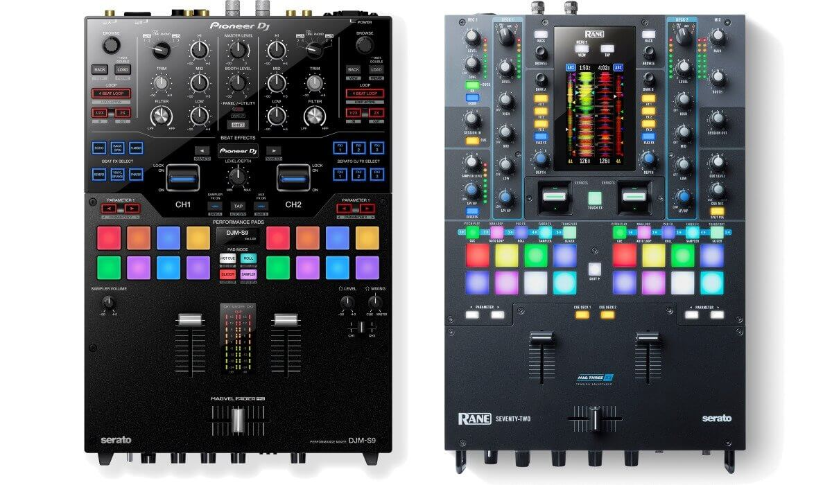 rane unleashes their seventy two mixer goes after pioneer dj djm s9. Black Bedroom Furniture Sets. Home Design Ideas