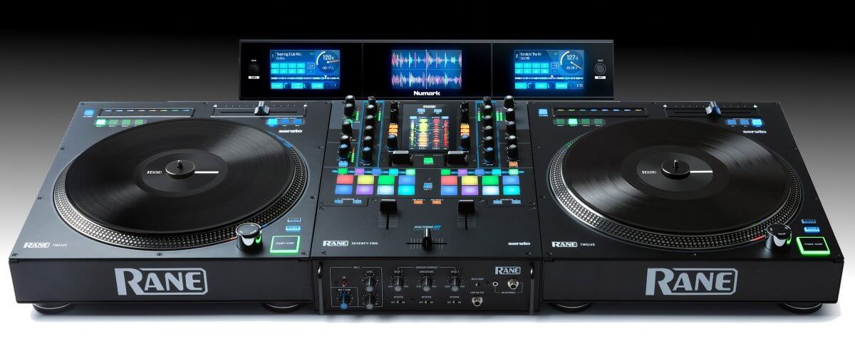 Rane Twelve controller and Seventy Two mixer with the Numark Dashboard.