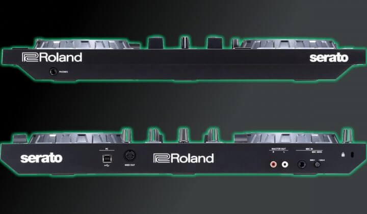 Roland DJ-202 front and back.
