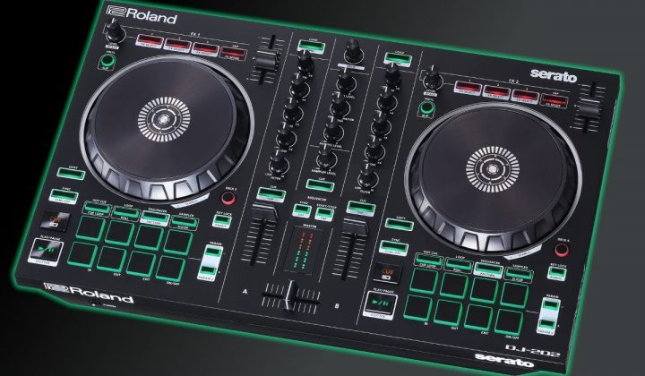 Roland DJ-202 side view.
