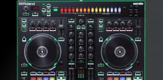 Roland DJ-505 top view.