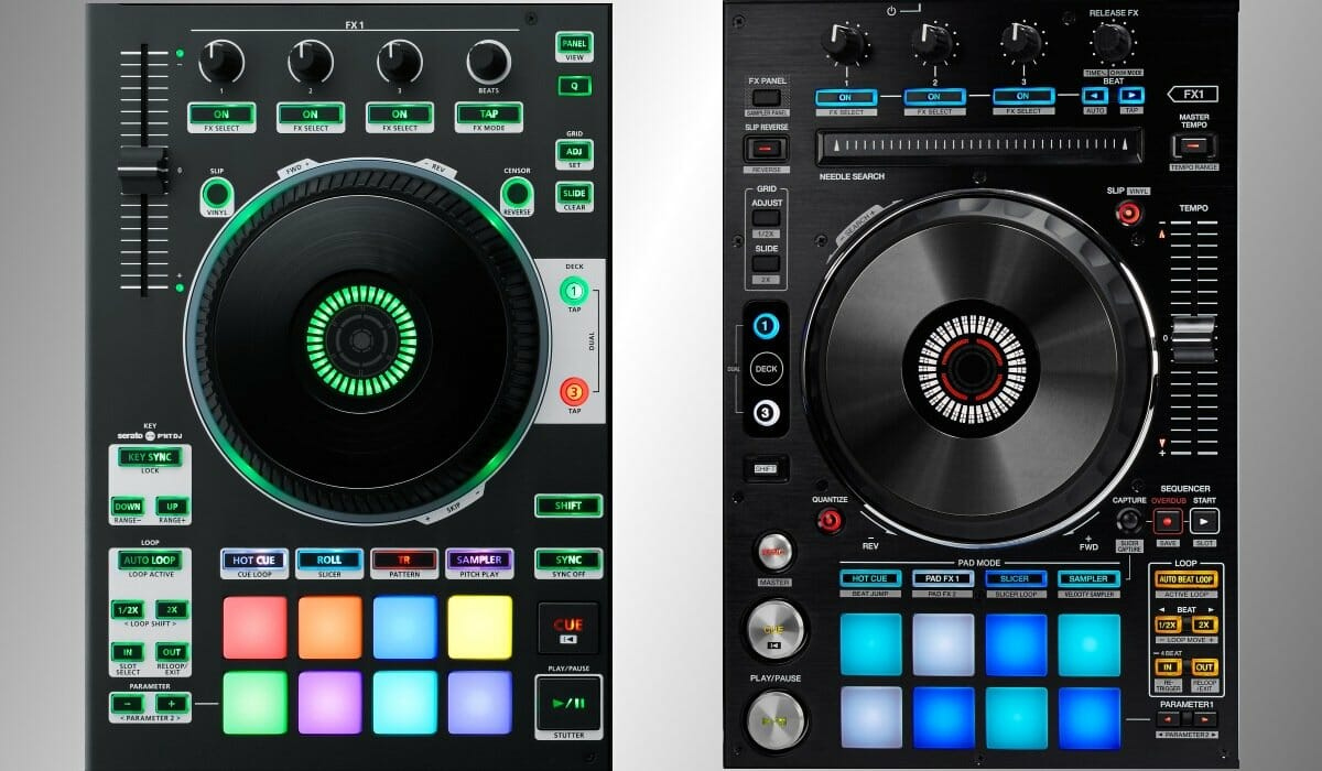 The DJ-808 and the DDJ-RX compared