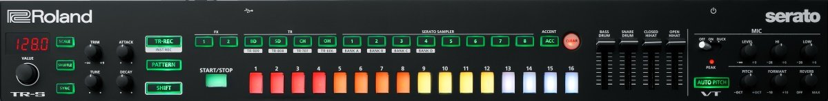 The DJ-808 extra features: TR-S and VT