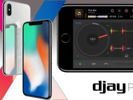djay Pro on the iPhone 7 versus the iPhone X