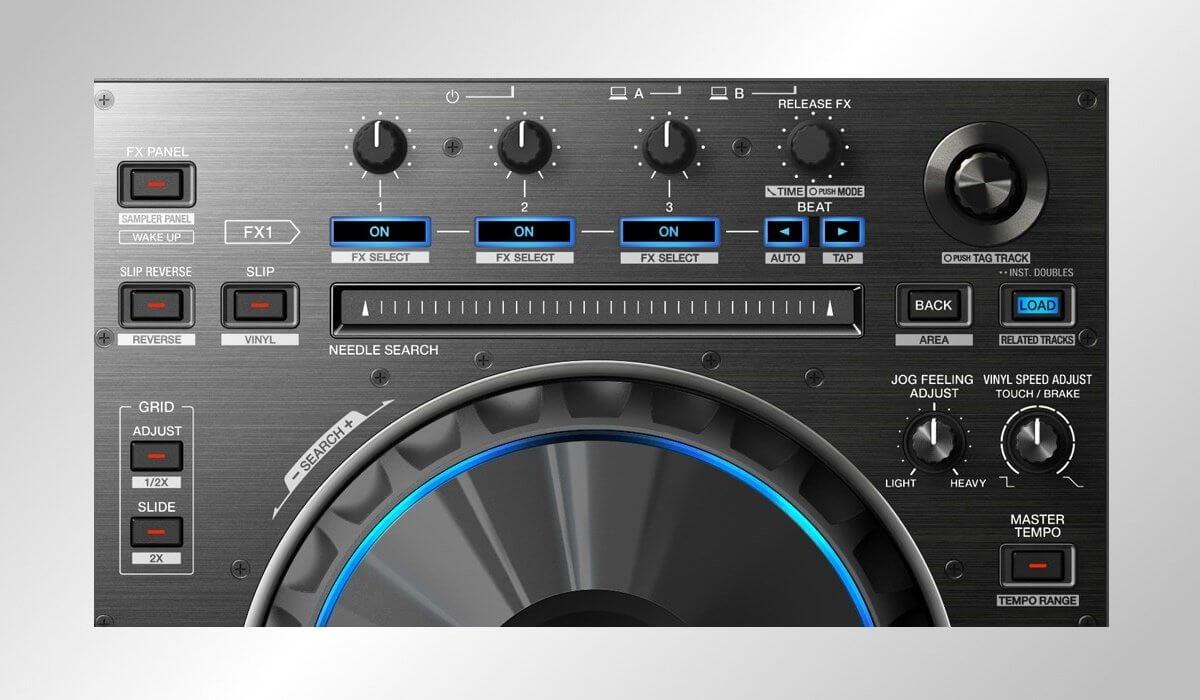 Pioneer DJ DDJ-RZ effects and navigation