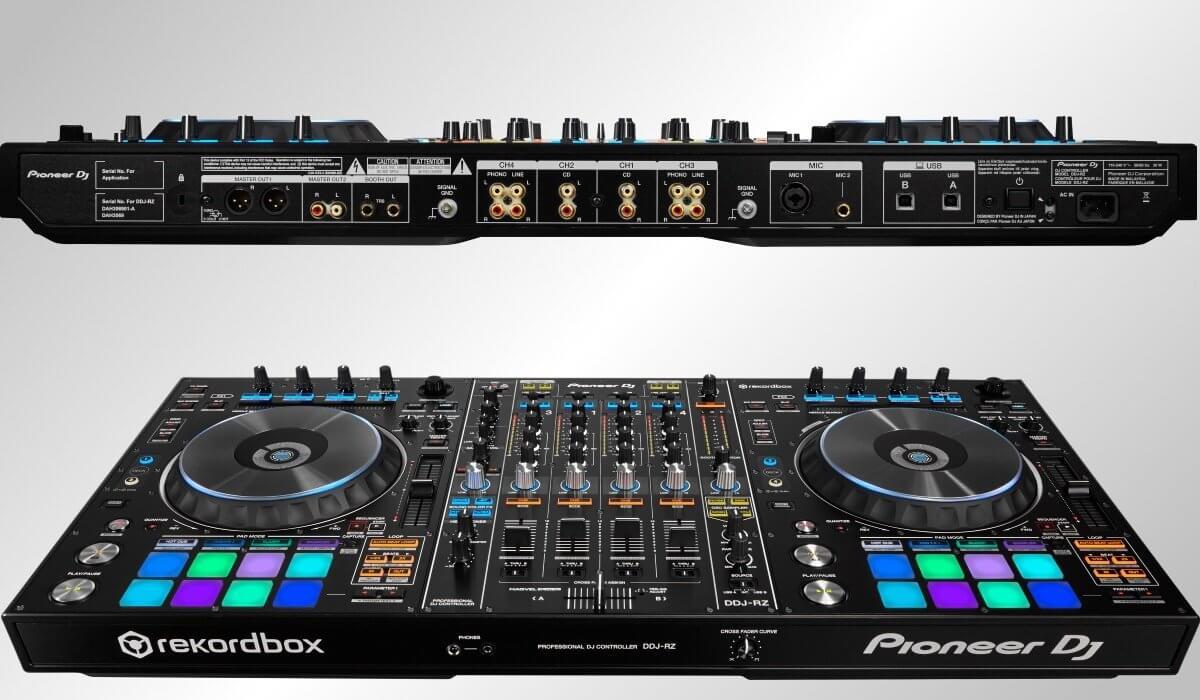 Pioneer DJ DDJ-RZ inputs and outputs