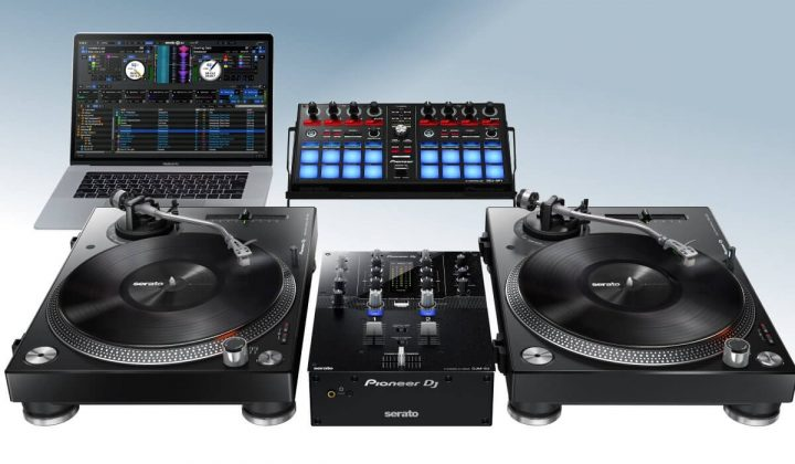 Pioneer DJ DJM-S3 with DDJ-SP1 and PLX-500