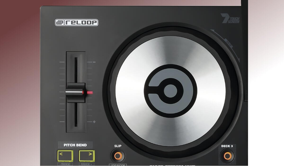 Reloop TOUCH jog wheel detail