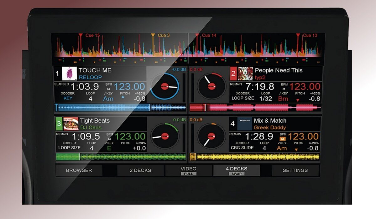 Reloop TOUCH screen detail