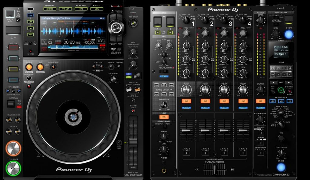 Pioneer DJ CDJ-2000NXS2 and DJM-900NXS2