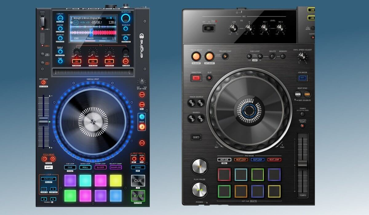 Pioneer DJ XDJ-RX2 and Denon DJ MCX8000 decks compared
