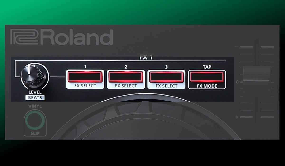 Roland DJ-202 effects section