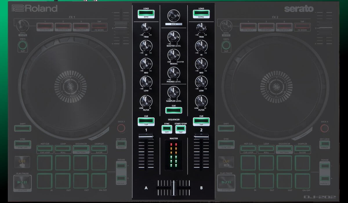 Roland DJ-202 mixer section