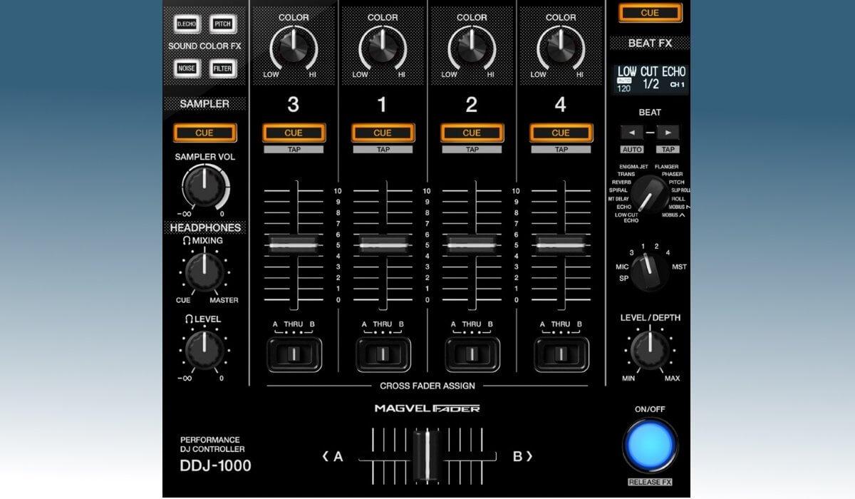 Pioneer DJ DDJ-1000 mixer detail