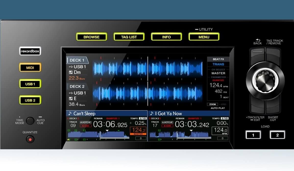 Pioneer DJ XDJ-RX2 screens