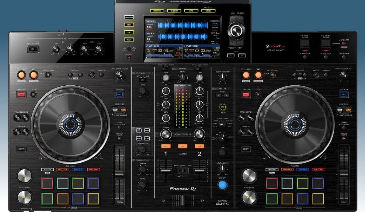 Pioneer DJ XDJ-RX2 top view